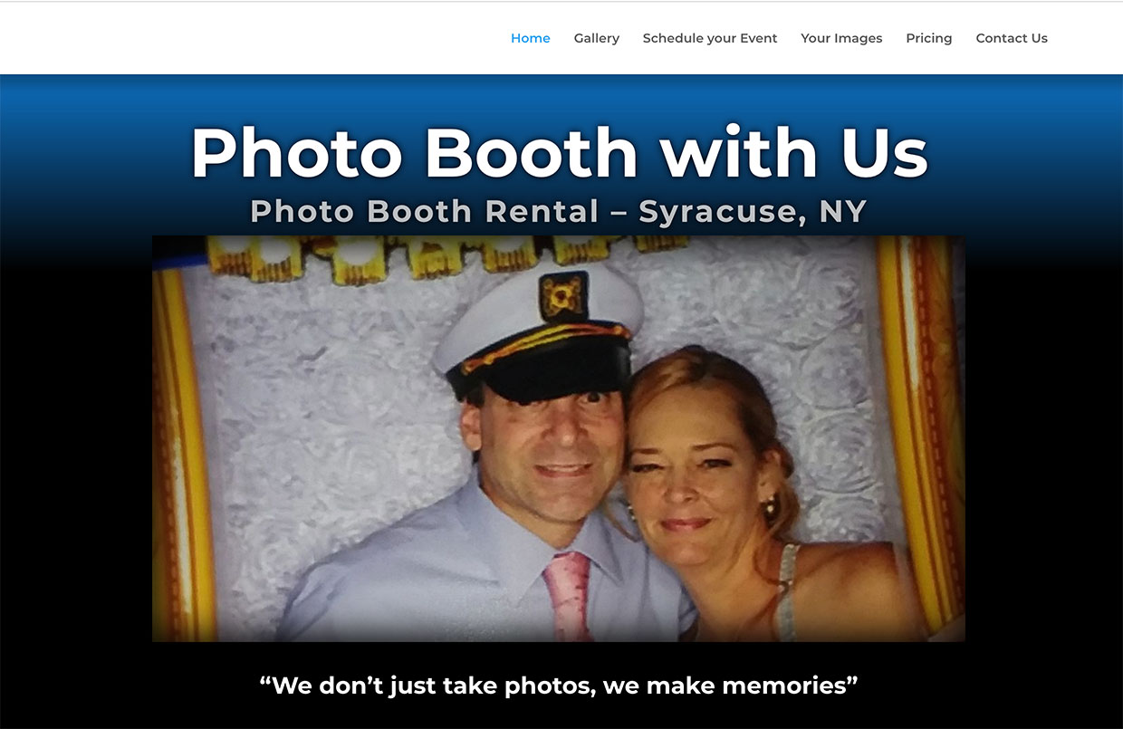 Photo Booth with Us – Website